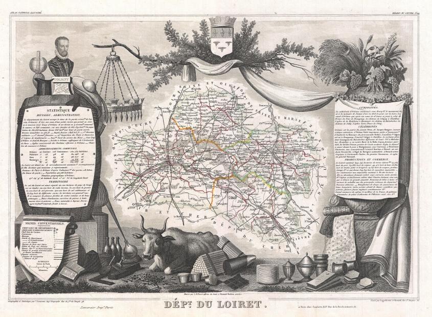 1852_levasseur_map_of_the_department_du_loiret_france_-_geographicus_-_loiret-levasseur-1852