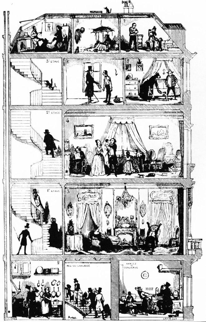 un immeuble parisien au xixe si cle blog histoire g o. Black Bedroom Furniture Sets. Home Design Ideas