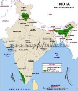 india tea-production-map