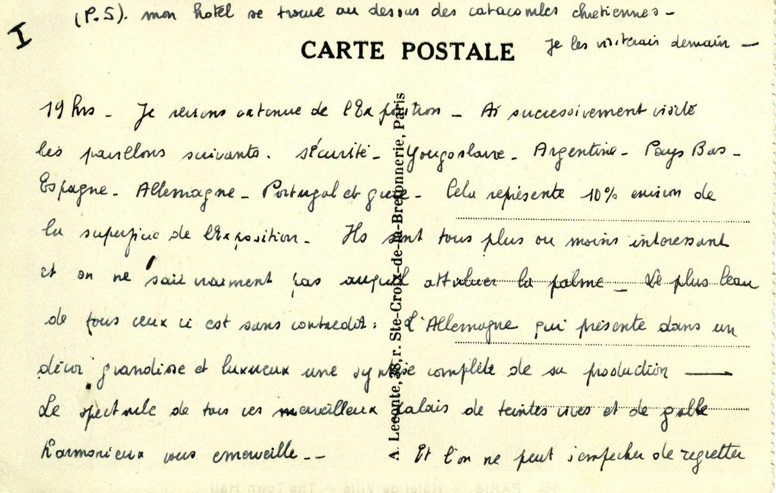 carte postale en espagnol
