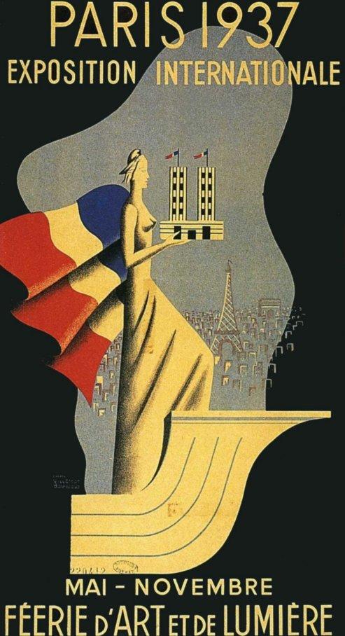 1937 Affiche pour l'Exposition Internationale cosignée avec Pierre Bouissoud