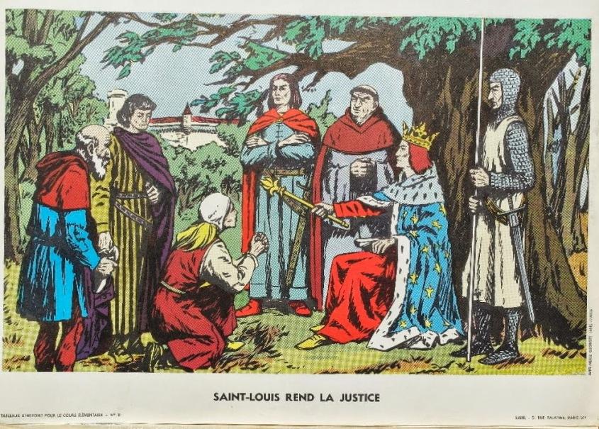 Tableau d'histoire CE 11 Saint-Louis rend la justice
