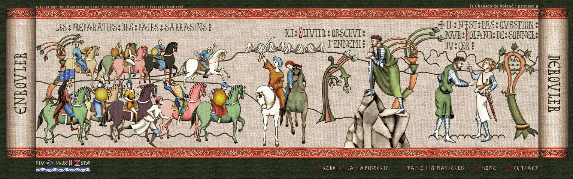 La tapisserie de la chanson de roland blog histoire g o - Peut on repeindre sur de la tapisserie ...