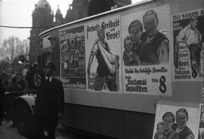 Nationalsozialistische Wahlpropaganda in Berlin 24.04.1932 Wahl zum preußischen Landtag