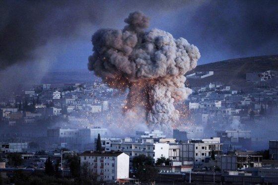 Attentat de l'Etat islamique à Kobané en 2014