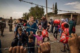 réfugiés kurdes fuyant vers la Turquie en 2014