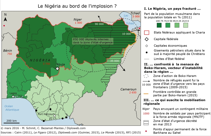 Carte Le Nigéria au bord de l'implosion CBM