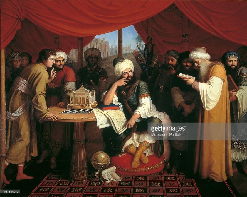 Harun al Rashid sous sa tente, Gaspare Landi, XIXe siècle
