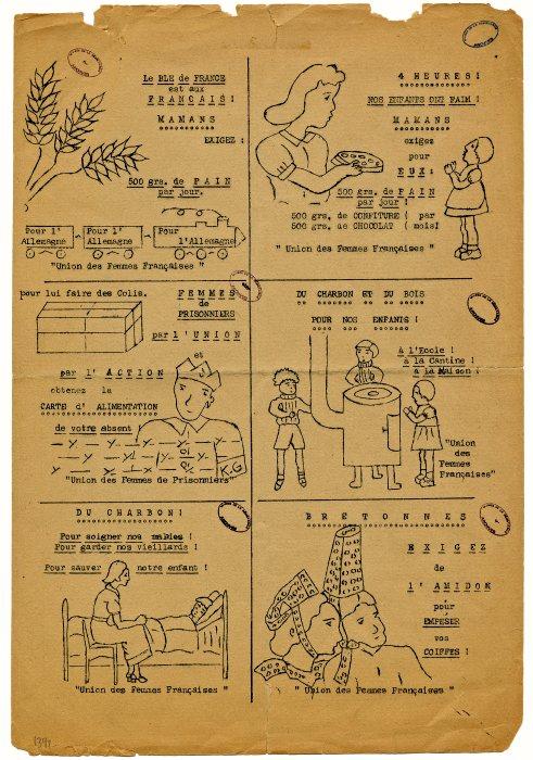 Tract de l'Union des femmes française de Bretagne [1941-1942]