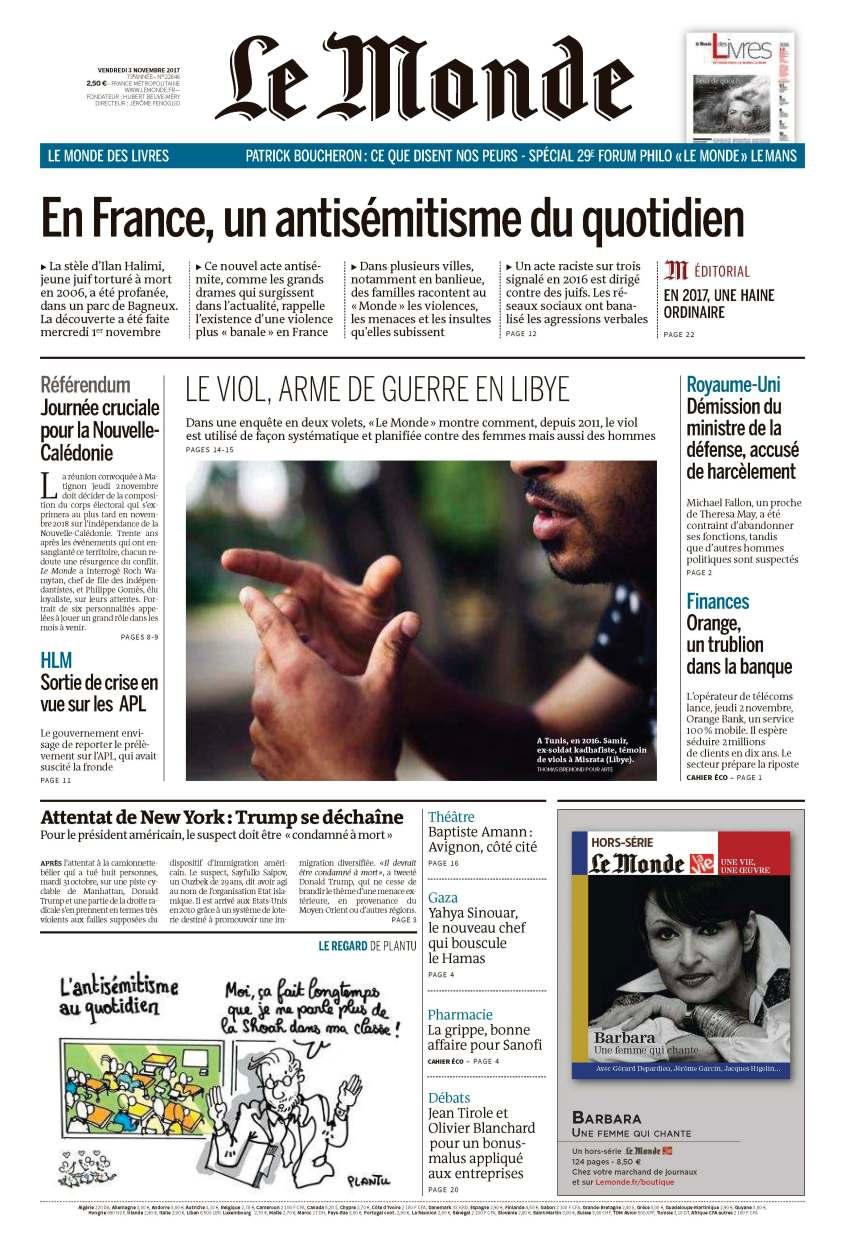 Pages de Le Monde & 2 suppléments du vendredi 3 décembre 2017 - Copie