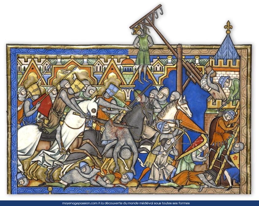 manuscrit_ancien_enluminures_miniatures_medieval_moyen-age_central_bible_maciejowski_Joshua