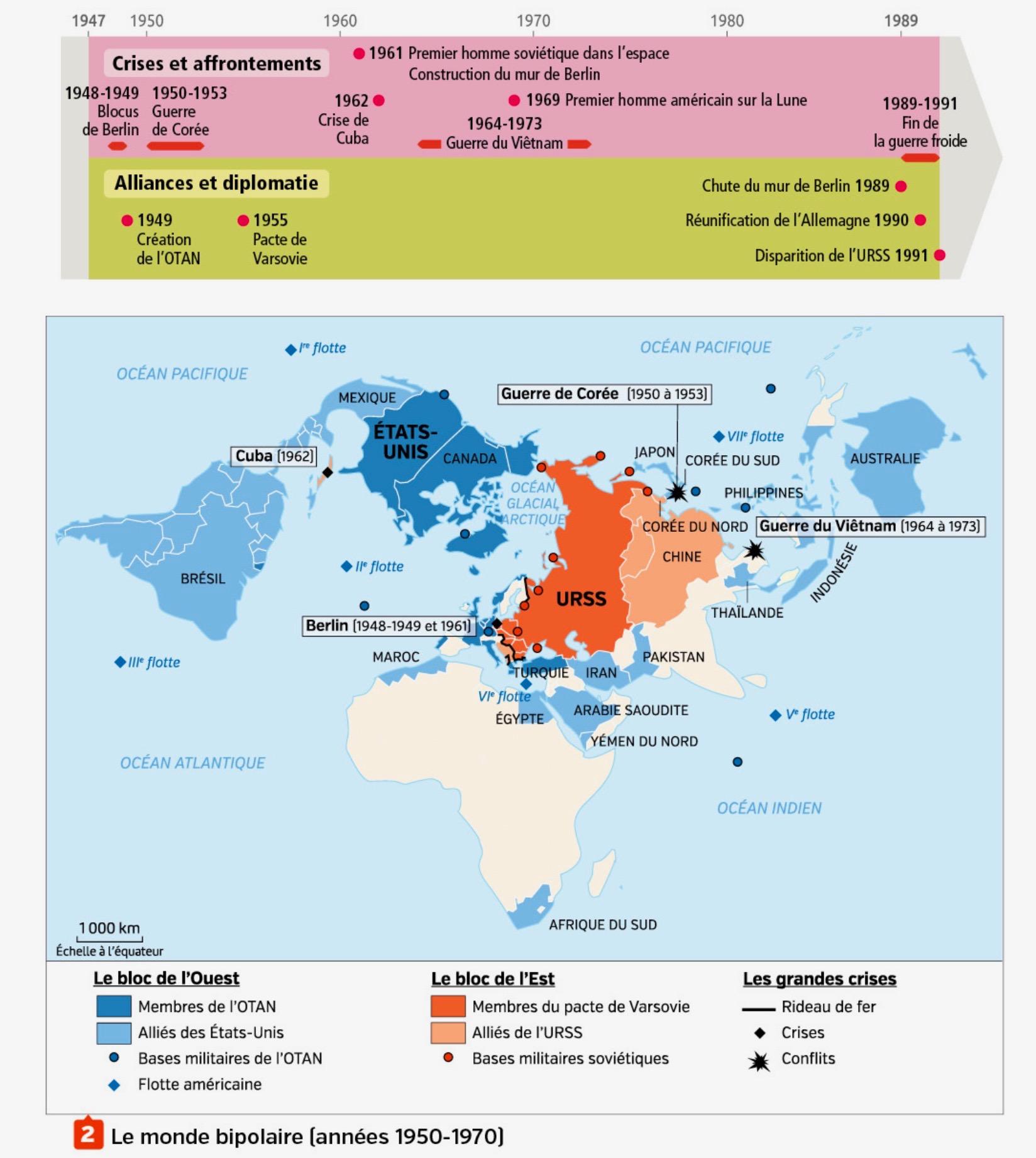 Carte Du Monde Pendant La Guerre Froide.Sequence De 3e La Guerre Froide Un Monde Bipolaire Blog