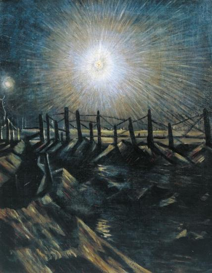 A Star Shell exhibited 1916 Christopher Richard Wynne Nevinson 1889-1946 Presented by the Trustees of the Chantrey Bequest 1962 http://www.tate.org.uk/art/work/T00495