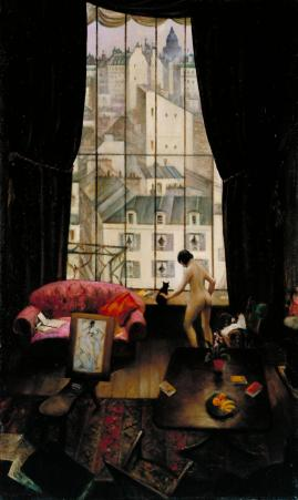 christopher-richard-wynne-nevinson-a-studio-in-montparnasse-1926