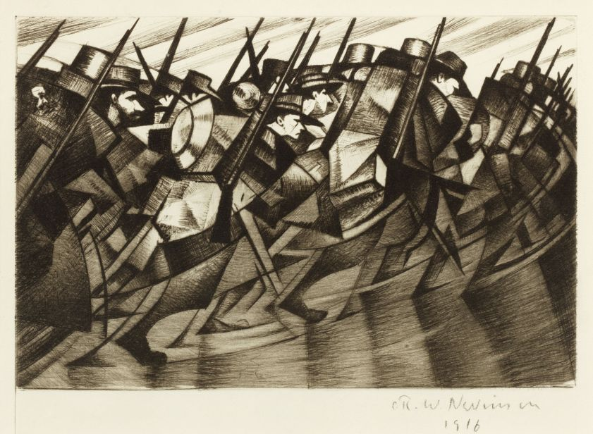 lot-10-c-r-w-nevinson-returning-to-the-trenches