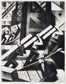 lot-11-c-r-w-nevinson-loading-the-ship