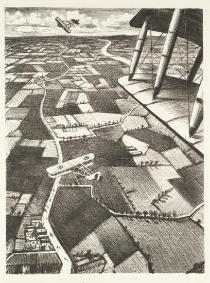 In the Air 1917 Christopher Richard Wynne Nevinson 1889-1946 Presented by the Ministry of Information 1918 http://www.tate.org.uk/art/work/P03050