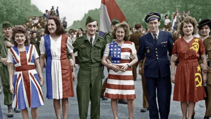 Fete de la Victoire, 1945 : Paris