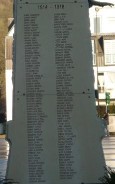 Les soldats morts en 14 - 18