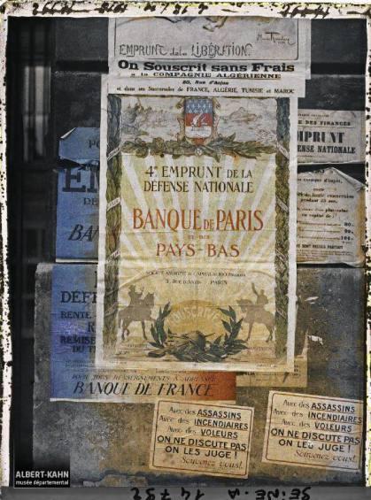 Groupe d'affiches de l'emprunt national, Paris, France. 18 octobre 1918 2
