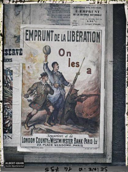 Groupe d'affiches de l'emprunt national, Paris, France. 18 octobre 1918 4