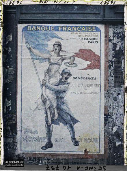 Groupe d'affiches de l'emprunt national, Paris, France. 18 octobre 1918 5