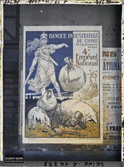 Groupe d'affiches de l'emprunt national, Paris, France. 18 octobre 1918 6