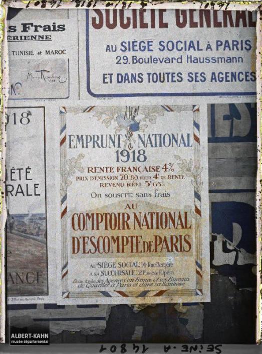 Groupe d'affiches de l'emprunt national, Paris, France. 18 octobre 1918 7
